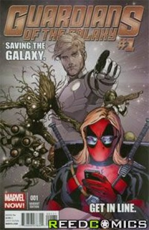 Guardians of the Galaxy Volume 3 #1 (Texts From Deadpool Variant Cover)