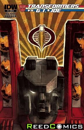 Transformers vs GI Joe #7 (1 in 10 Incentive Variant Cover)