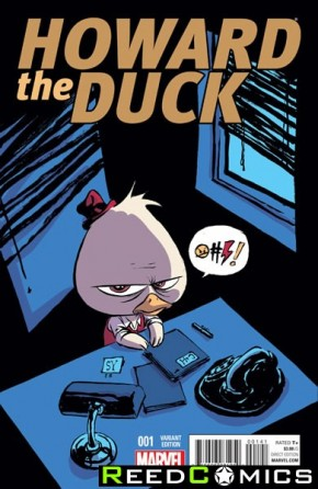 Howard the Duck Volume 4 #1 (Skottie Young Baby Variant Cover)