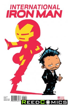 International Iron Man #1 (Skottie Young Baby Variant Cover)
