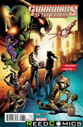 Guardians of the Galaxy Volume 4 #6 (Schiti Story Thus Far Variant Cover)
