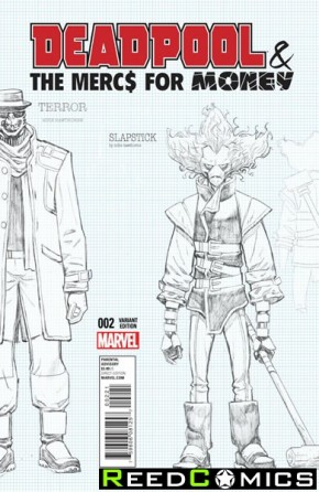 Deadpool Mercs for Money #2 (1 in 20 Hawthorn Design Incentive Variant Cover)