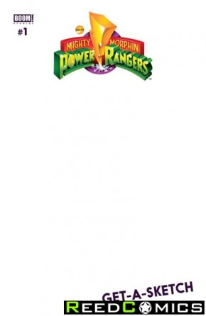 Mighty Morphin Power Rangers #1 (Blank Variant Cover)