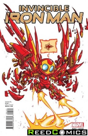 Invincible Iron Man Volume 2 #1 (Skottie Young Baby Variant Cover)