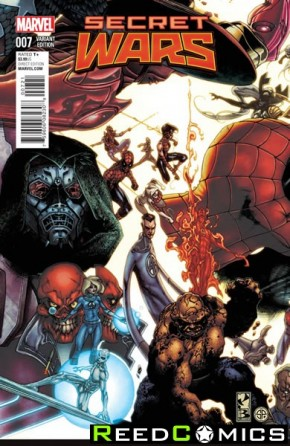 Secret Wars #7 (1 in 20 Bianchi Connecting Incentive Variant Cover)