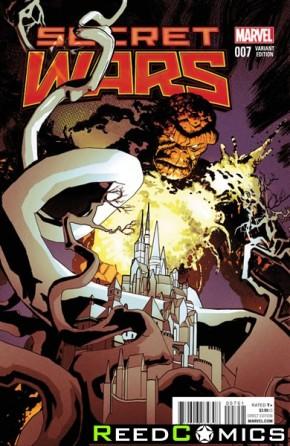 Secret Wars #7 (1 in 25 Coker Incentive Variant Cover)