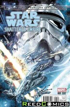 Journey to Star Wars The Force Awakens Shattered Empire #1 (1 in 25 Checcetto Incentive Variant Cover)