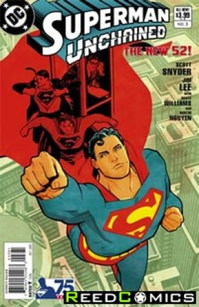 Superman Unchained #3 (75th Anniversary Modern Age 1 in 25 Variant Cover)