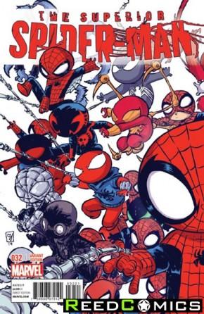 Superior Spiderman #32 (Young Interlocking Variant)