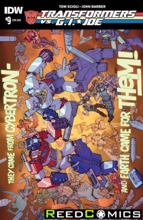 Transformers vs GI Joe #9 (Subscription Variant Cover)