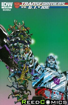 Transformers vs GI Joe #9 (1 in 10 Incentive Variant Cover)