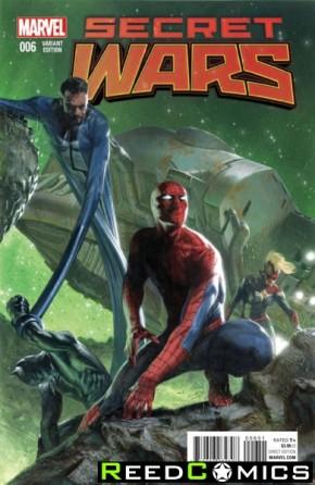 Secret Wars #6 (1 in 25 Delotto Incentive Variant Cover)