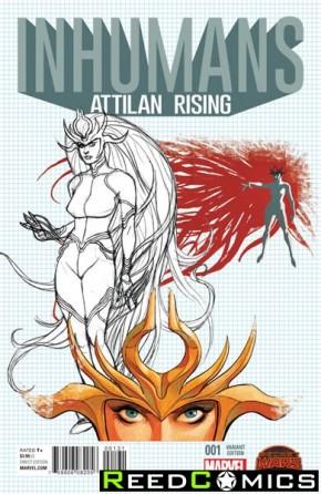 Inhumans Attilan Rising #1 (1 in 25 Design Incentive Variant Cover)