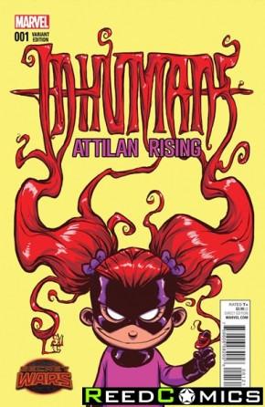 Inhumans Attilan Rising #1 (Skottie Young Baby Variant Cover)