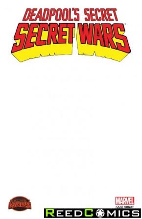 Deadpools Secret Secret Wars #1 (Blank Variant)