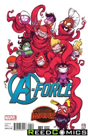 A-Force #1 (Skottie Young Baby Variant Cover)