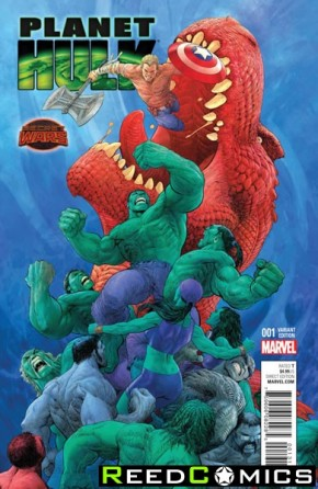 Planet Hulk #1 (1 in 20 Singh Incentive Variant Cover)