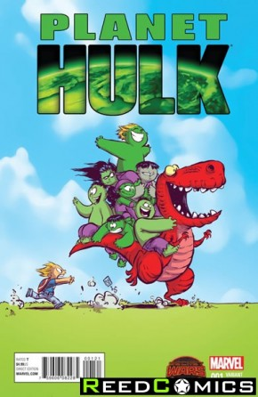 Planet Hulk #1 (Skottie Young Baby Variant Cover)