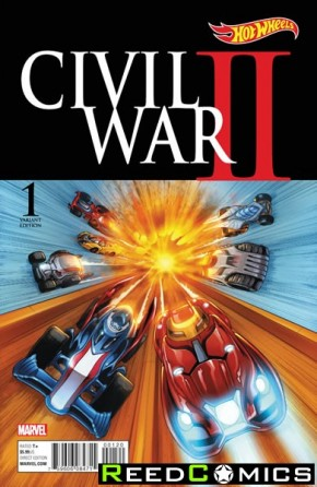 Civil War II #1 (Hot Wheels 1 in 10 Incentive Variant Cover)