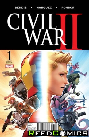 Civil War II #1 (Marquez 1 in 25 Incentive Variant Cover)