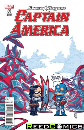 Captain America Steve Rogers #1 (Skottie Young Baby Variant Cover)