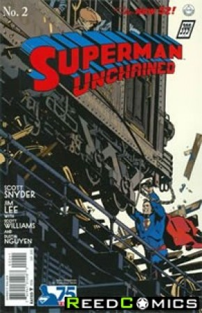 Superman Unchained #2 (75th Anniversary 1930s 1 in 100 Variant Cover)