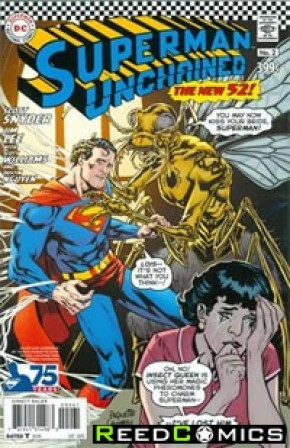 Superman Unchained #2 (75th Anniversary Silver Age 1 in 50 Variant Cover)