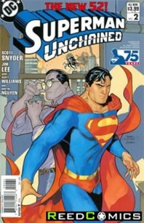 Superman Unchained #2 (75th Anniversary Modern Age 1 in 25 Variant Cover)