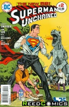 Superman Unchained #2 (75th Anniversary Bronze Age 1 in 50 Variant Cover)