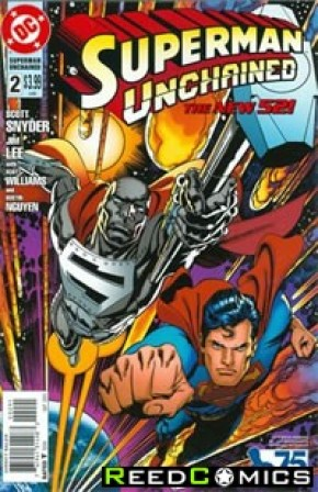 Superman Unchained #2 (75th Anniversary Superman Reborn 1 in 25 Variant Cover)