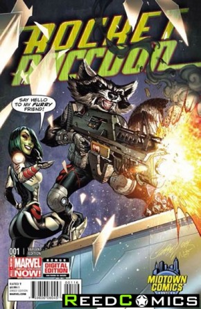 Rocket Raccoon #1 (Midtown Exclusive J Scott Campbell Variant Cover)