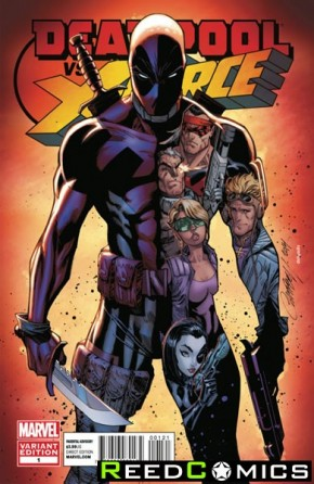 Deadpool vs X-Force #1 (1 in 25 Incentive Variant Cover)