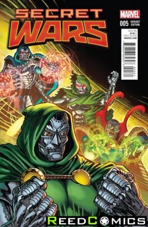 Secret Wars #5 (Broderick 1 in 25 Incentive Variant Cover)