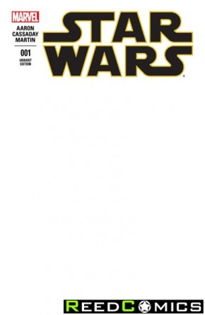 Star Wars Volume 4 #1 (Blank Variant Cover)