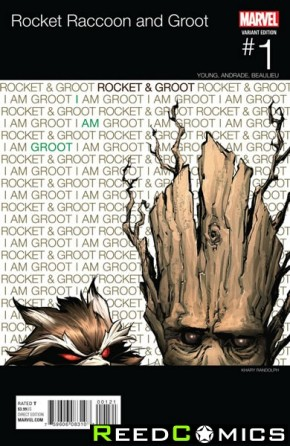 Rocket Raccoon and Groot #1 (Randolph Hip Hop Variant Cover)