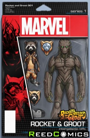 Rocket Raccoon and Groot #1 (Christopher Action Figure Variant Cover)