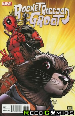 Rocket Raccoon and Groot #1 (1 in 10 Nauck Incentive Variant cover)