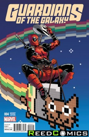 Guardians of the Galaxy Volume 4 #4 (1 in 10 Deadpool Incentive Variant Cover)