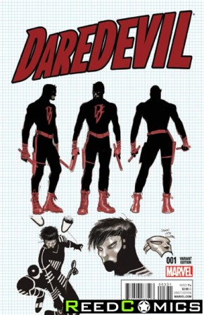 Daredevil Volume 5 #3 (1 in 20 Garney Design Incentive Variant Cover)