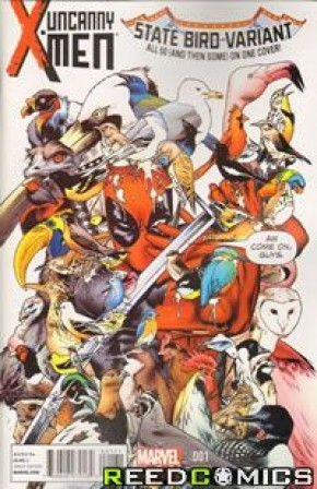 Uncanny X-Men Volume 3 #1 (Deadpool 53 State Birds Variant)
