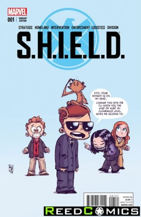 SHIELD Volume 4 #1 (Skottie Young Baby Variant Cover)