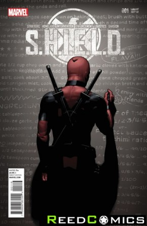 SHIELD Volume 4 #1 (Deadpool Party Variant Cover)