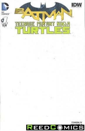 Batman Teenage Mutant Ninja Turtles #1 (Blank Variant Cover)