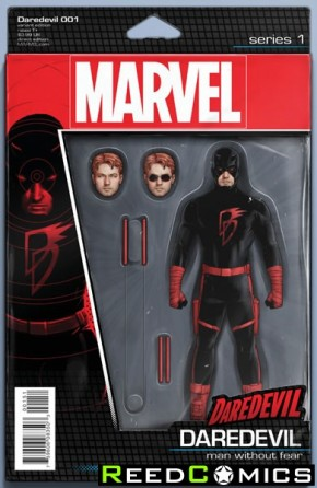 Daredevil Volume 5 #1 (Christopher Action Figure Variant Cover)