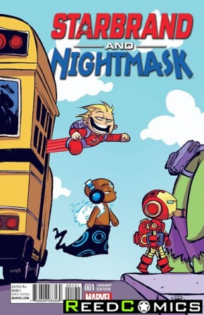 Starbrand and Nightmask #1 (Skottie Young Baby Variant Cover)