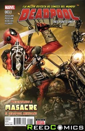 Deadpool Volume 5 #3.1 Tres Punto Uno