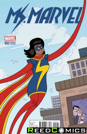 Ms Marvel Volume 4 #2 (1 in 10 Incentive Variant Cover)
