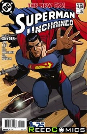 Superman Unchained #5 (75th Anniversary Modern Age 1 in 25 Variant Cover)
