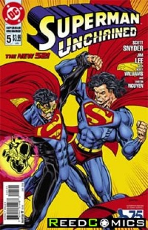 Superman Unchained #5 (75th Anniversary Superman Reborn 1 in 25 Variant Cover)