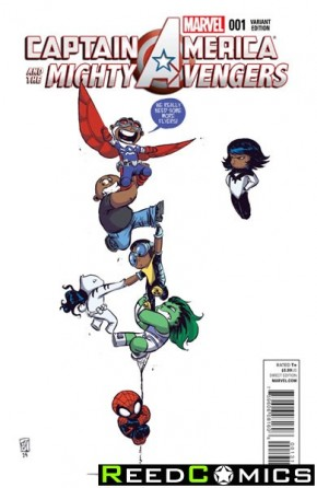 Captain America and the Mighty Avengers #1 (Skottie Young Baby Variant Cover)